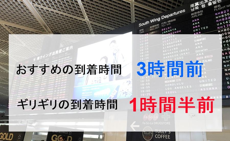 国際線の空港到着は何時間前がおすすめか